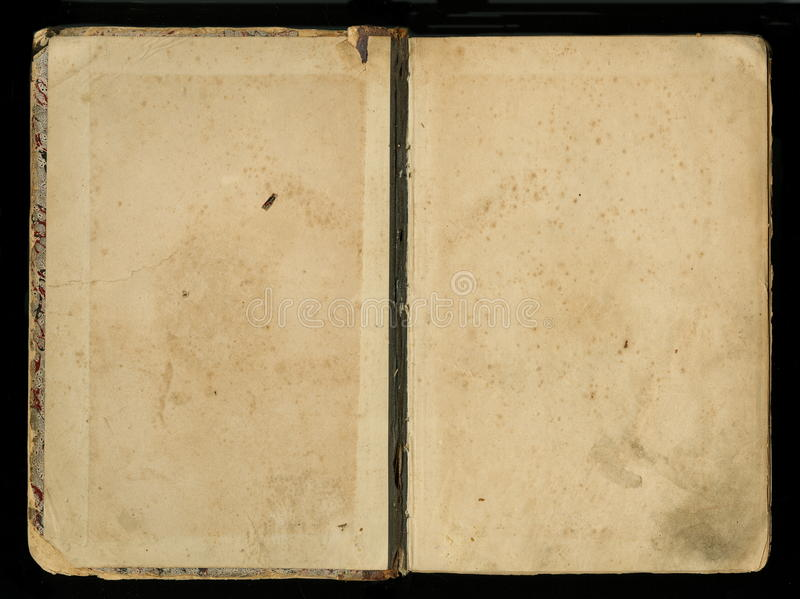 Cubierta de libro antigua del diario del diario del vintage imagen de archivo libre de regalías