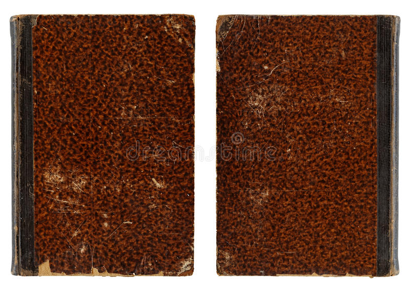 Cubierta de libro del vintage - trasera y Front Side foto de archivo