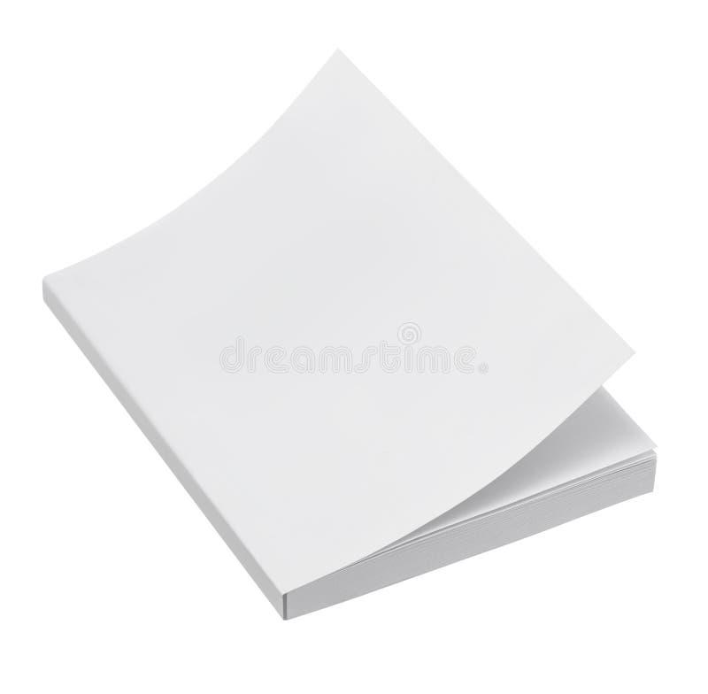 Cubierta de libro en blanco fotos de archivo libres de regalías