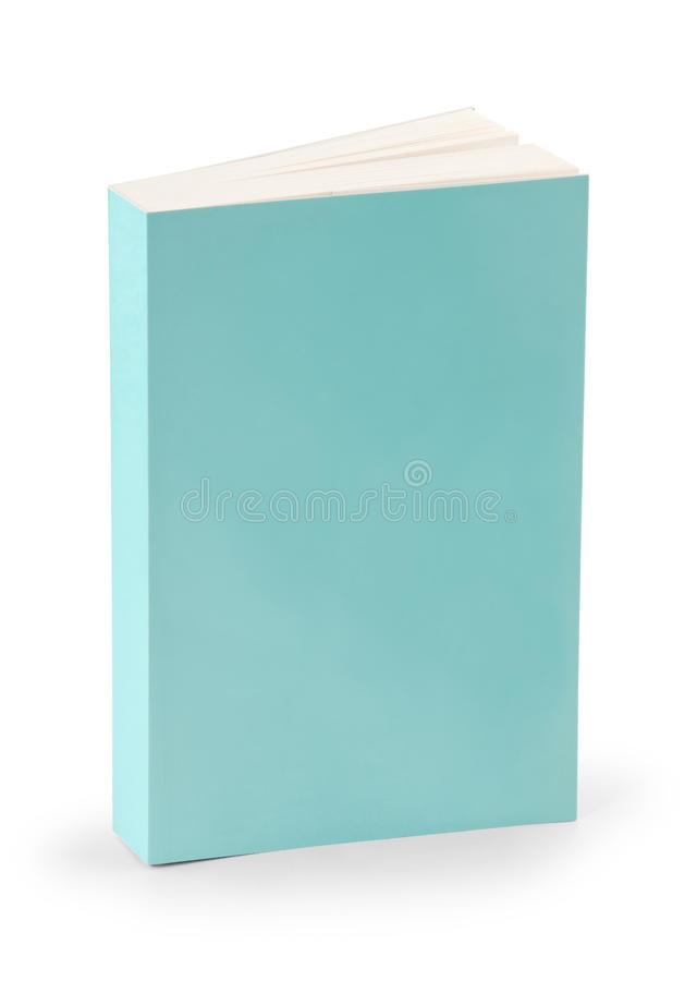 Cubierta de libro en blanco con el camino de recortes fotografía de archivo
