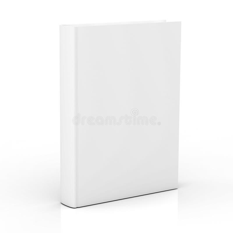 Cubierta de libro en blanco en el fondo blanco libre illustration
