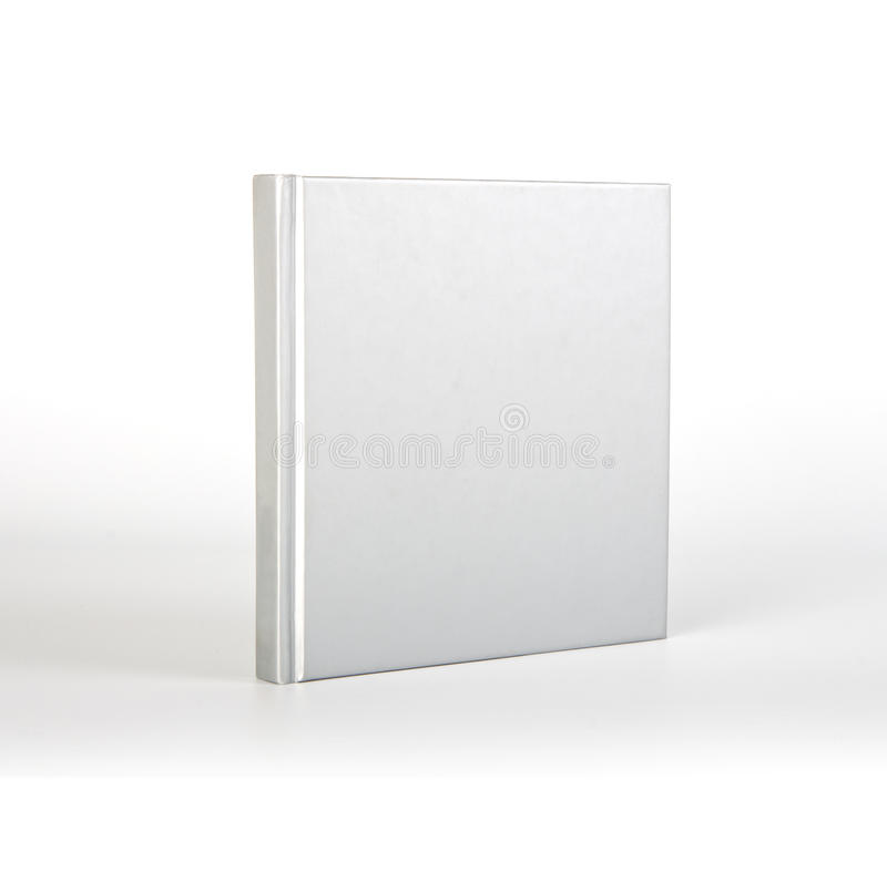 Cubierta de libro en blanco sobre el fondo blanco con la sombra imagen de archivo libre de regalías