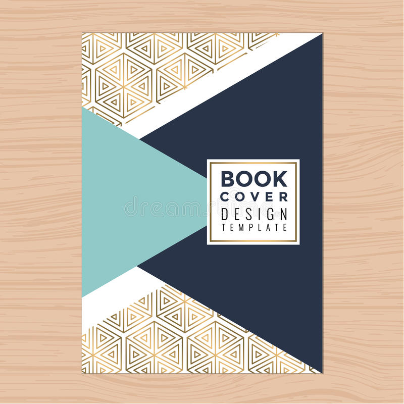 Cubierta de libro limpia moderna, perfil de Booklet, Poster, Flyer, Brochure, Company, plantilla de la disposición de diseño del  stock de ilustración