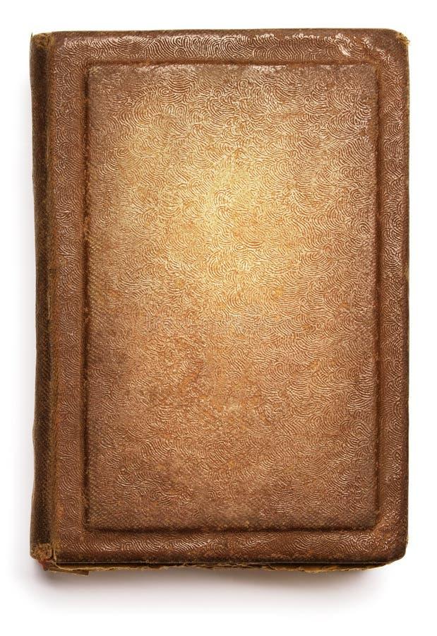 Cubierta de libro viejo, diseño vacío del grunge de la textura en blanco en blanco fotografía de archivo libre de regalías