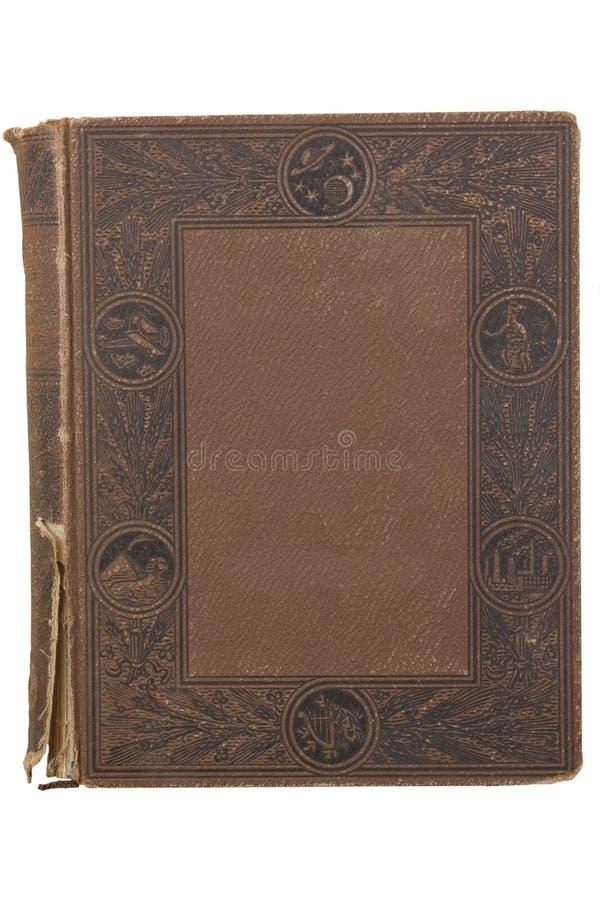 Cubierta de libro viejo, textura del vintage imagenes de archivo