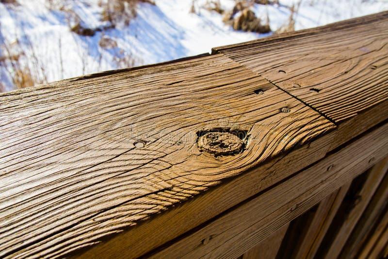 Cubierta de madera fotografía de archivo
