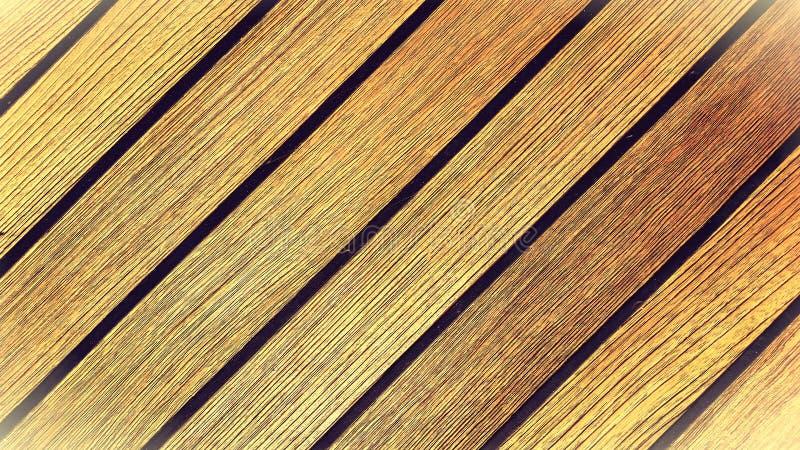 Cubierta de madera clásica de la teca imagenes de archivo