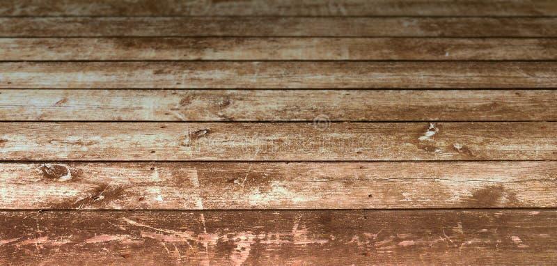 Cubierta de madera sucia vieja fotos de archivo