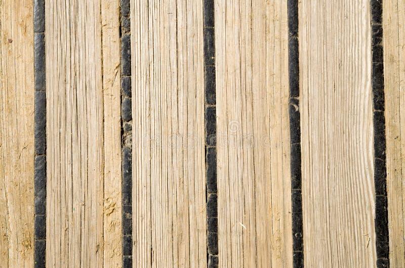 Cubierta de madera vieja de un velero fotos de archivo libres de regalías