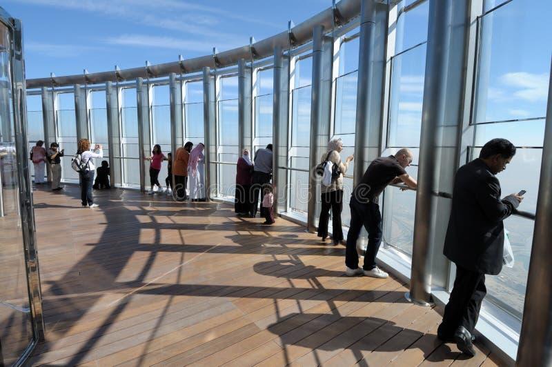 Cubierta de observación de Burj Khalifa, Dubai foto de archivo