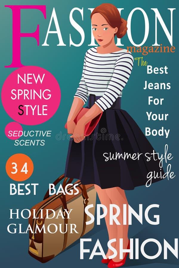 Cubierta de revista de moda stock de ilustración