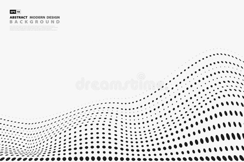 Cubierta de semitono negra del diseño del modelo de puntos del extracto en el fondo blanco Vector eps10 del ejemplo libre illustration