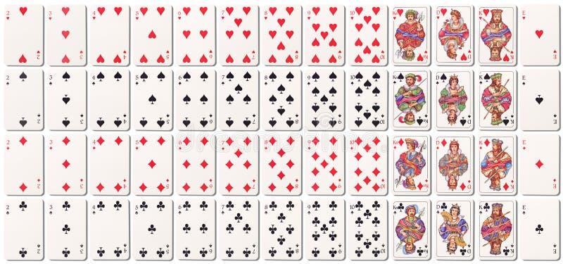 Cubierta de tarjetas llena con las sombras ilustración del vector