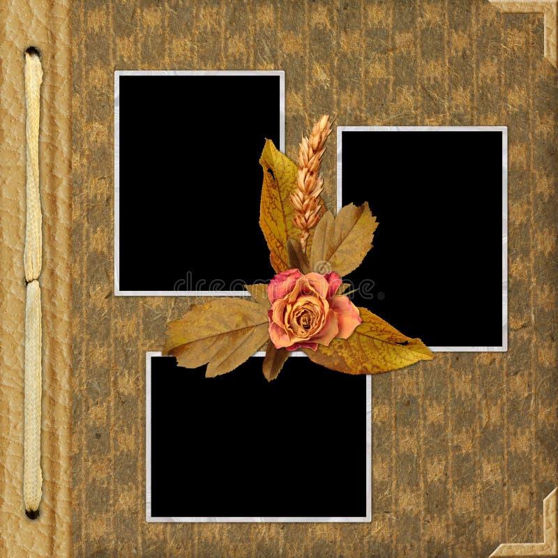 Cubierta Del álbum Con El Marco Y Las Flores Stock de ilustración ...