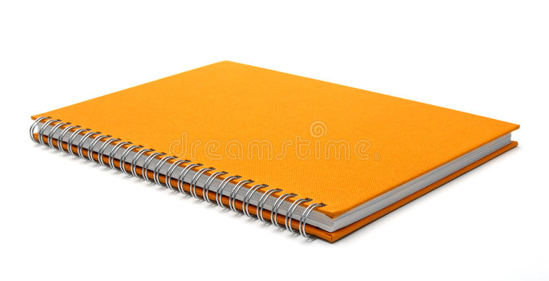 Cubierta del cuaderno aislada fotos de archivo