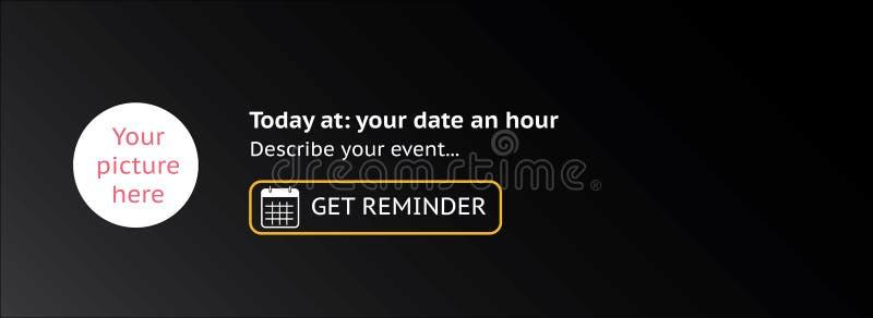 Cubierta del evento con el icono del calendario, ejemplo del vector Estilo plano del diseño - caja para añadir la imagen ilustración del vector