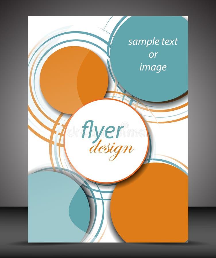 Cubierta del folleto del negocio A4 con el modelo circular libre illustration
