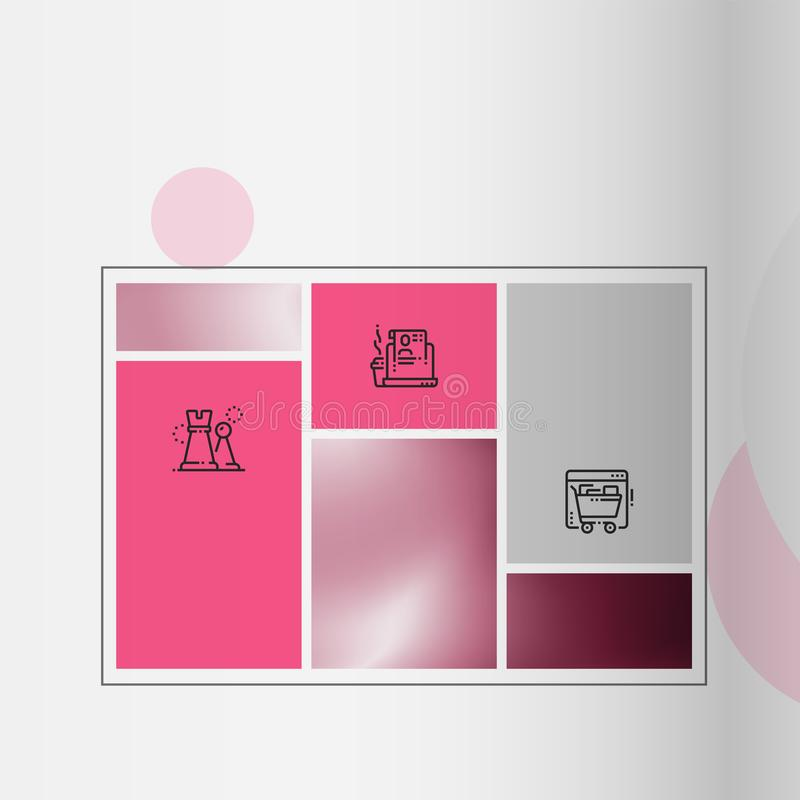 Cubierta del folleto usada en el m?rketing y la publicidad libre illustration