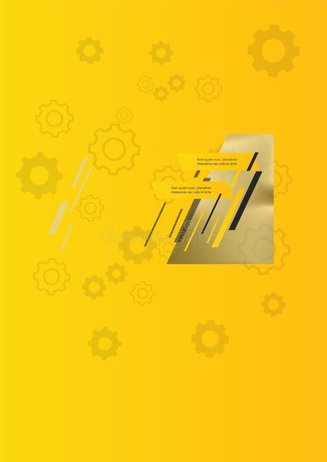 Cubierta del folleto usada en el m?rketing y la publicidad ilustración del vector