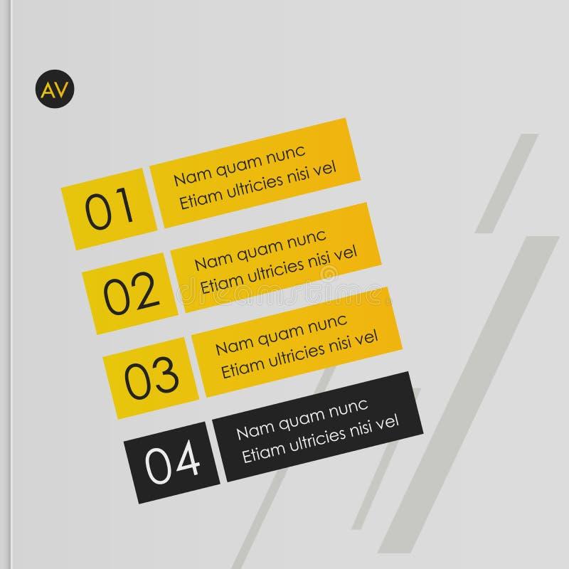 Cubierta del folleto usada en el m?rketing y la publicidad stock de ilustración