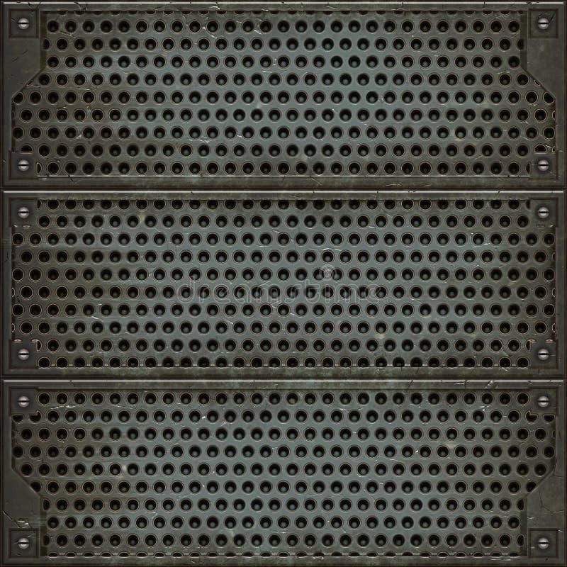 Cubierta del metal (textura inconsútil) ilustración del vector