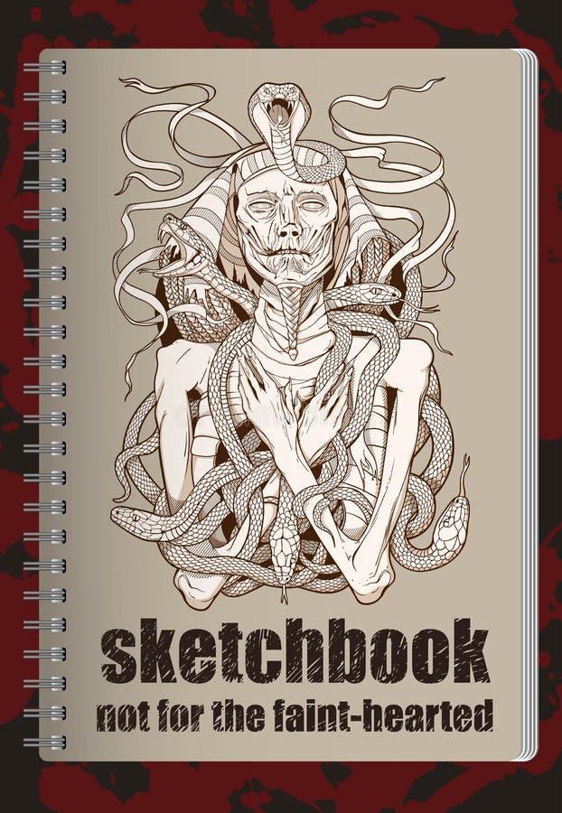 Cubierta del Sketchbook libre illustration