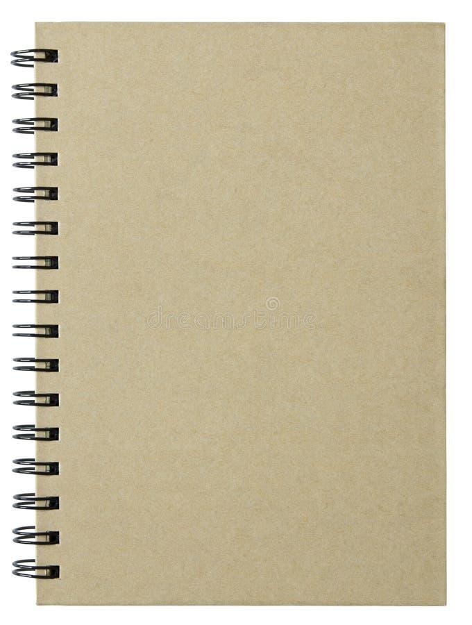 Download Cubierta En Blanco Del Cuaderno Aislada En Blanco Imagen de archivo - Imagen de diario, papel: 44850009