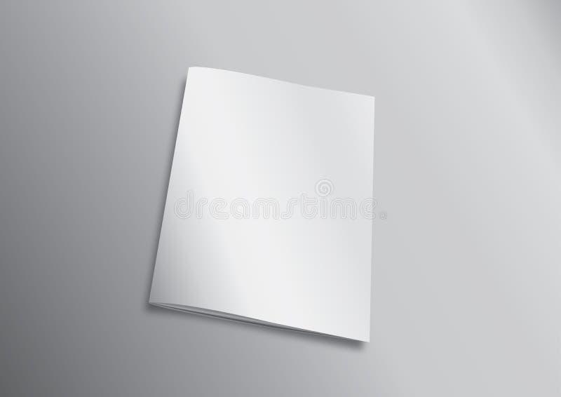 Cubierta en blanco del vuelo de la revista o del libro stock de ilustración
