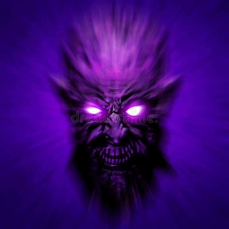 Cubierta espeluznante de la cara del zombi ilustración 3D stock de ilustración