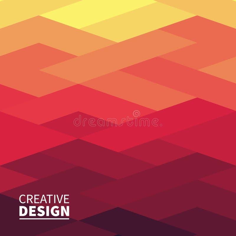 Cubierta geométrica abstracta futurista moderna libre illustration