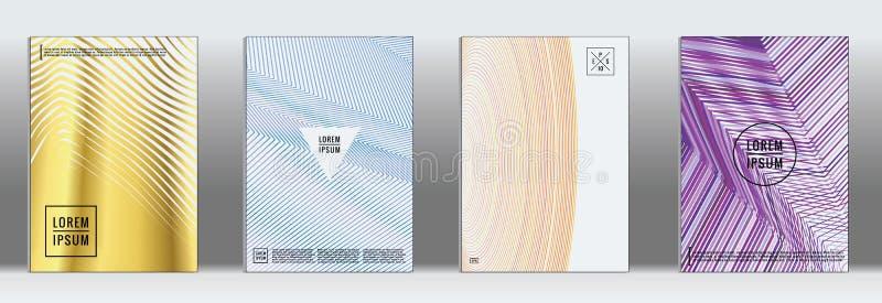 Cubierta geométrica mínima Línea abstracta modelo del vector para el diseño del cartel libre illustration