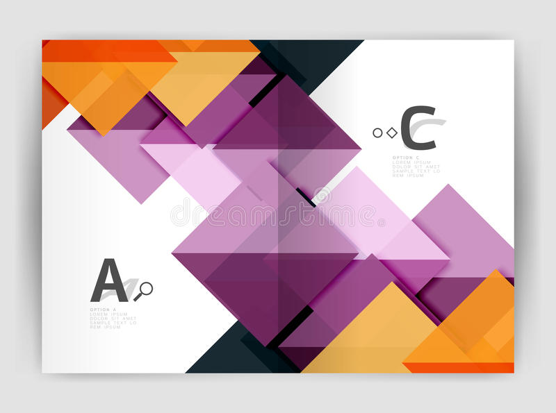 Cubierta geométrica moderna del informe anual del vector libre illustration