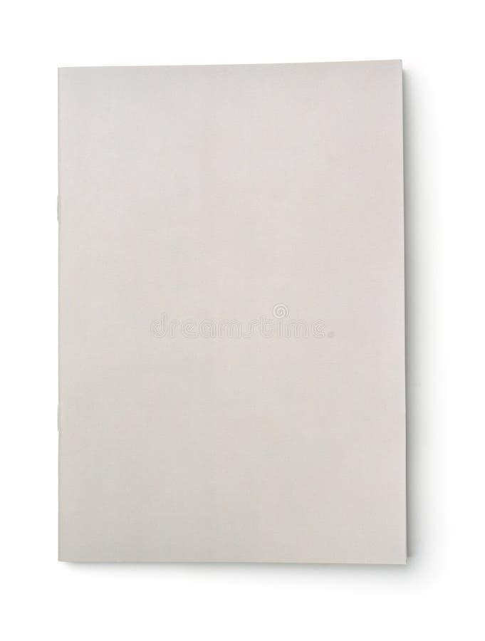 Cubierta gris en blanco del folleto foto de archivo