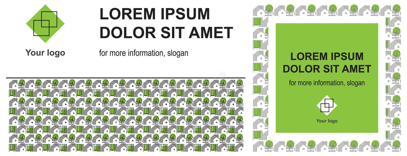 Cubierta para la presentación y diseño de redes sociales para las áreas de servicios públicos libre illustration