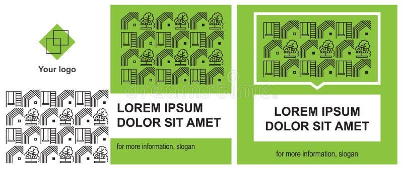 Cubierta para la presentación y diseño de redes sociales para las áreas de servicios públicos ilustración del vector