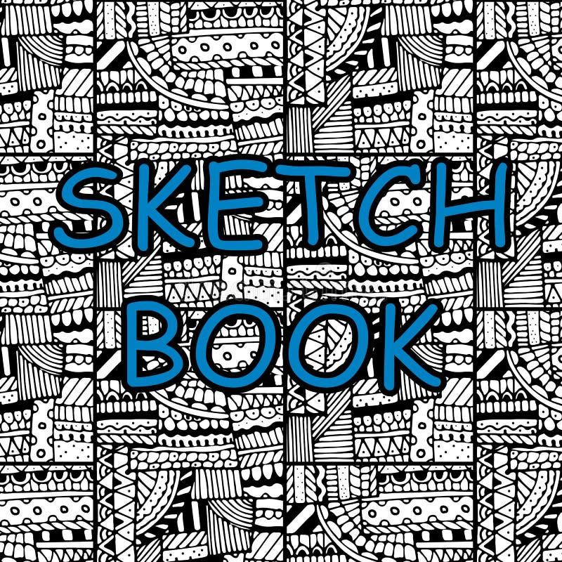 Cubierta para un sketchbook stock de ilustración