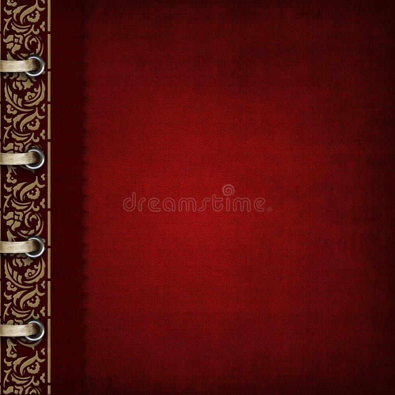 Cubierta roja del álbum de foto imágenes de archivo libres de regalías
