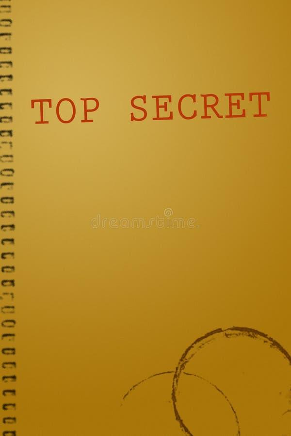 Cubierta secretísima del documento ilustración del vector