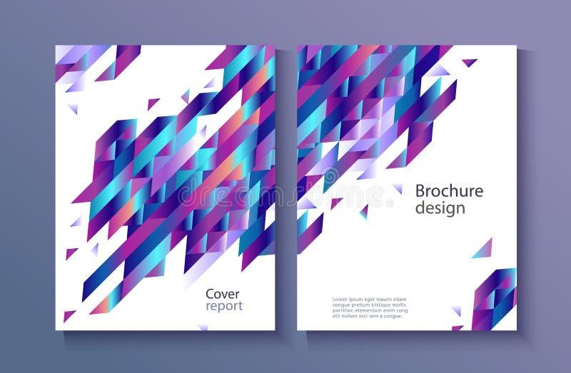 Cubierta vibrante de moda del informe de la pendiente del vector libre illustration