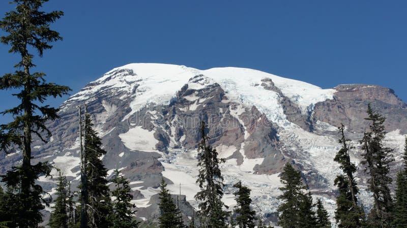 Cubiertas de nieve el Monte Rainier imagenes de archivo