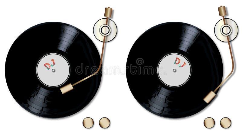 Cubiertas de registro de DJ stock de ilustración
