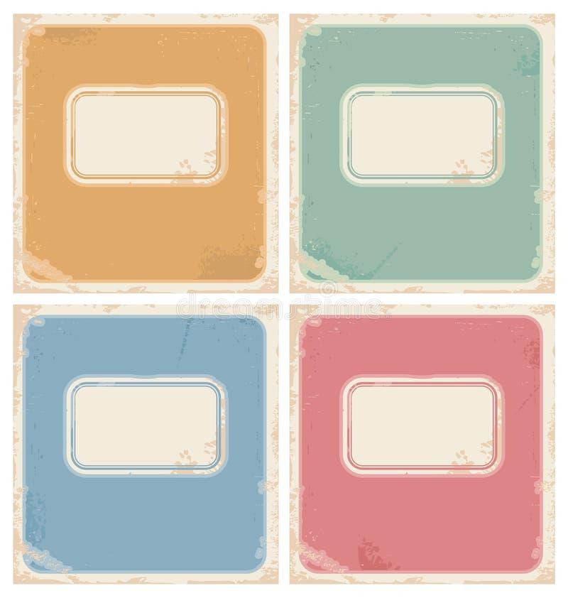 Cubiertas del cuaderno del vintage ilustración del vector