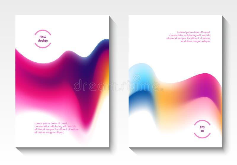 Cubiertas del vector del diseño del flujo stock de ilustración