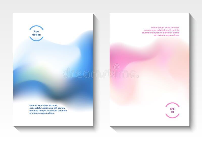 Cubiertas del vector del diseño del flujo libre illustration