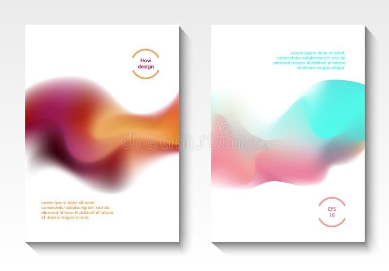 Cubiertas del vector del diseño del flujo ilustración del vector