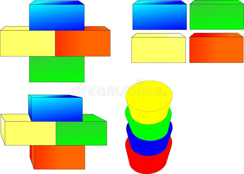 Cubification stock image