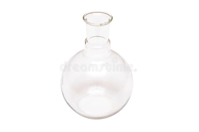 cubilete frasco Buque químico frasco Botella de cristal aislada imagenes de archivo