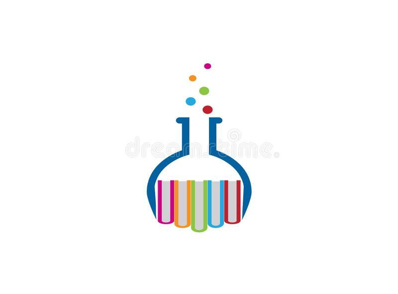 Cubilete redondo con el diseño del logotipo de los libros, icono del frasco libre illustration