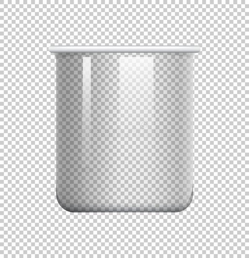 Cubilete redondo en fondo transparente ilustración del vector