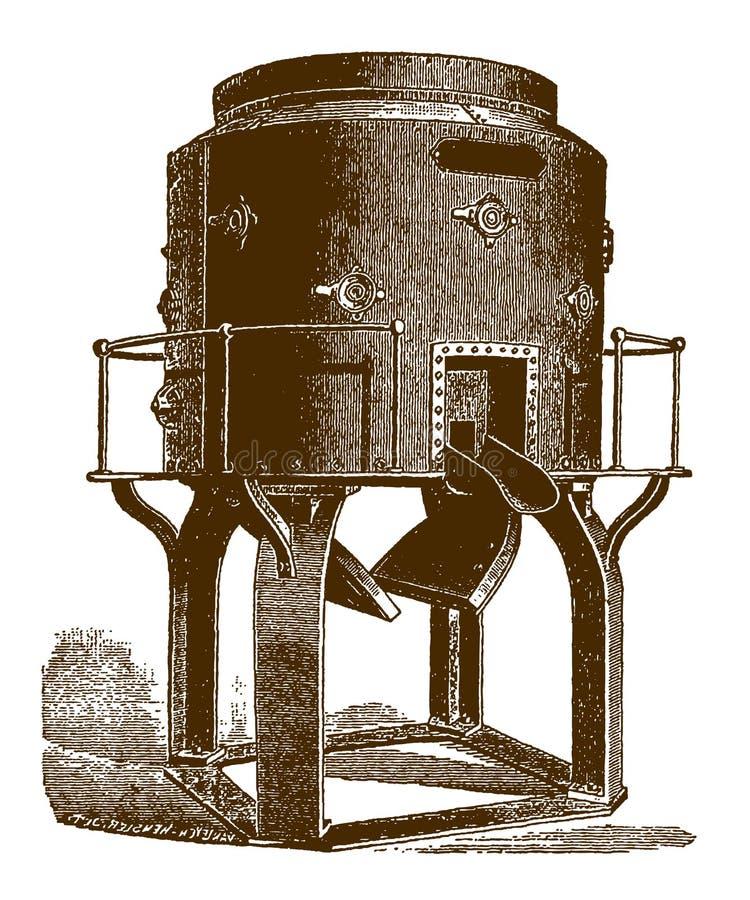 Cubilote histórico para el hierro de fusión libre illustration